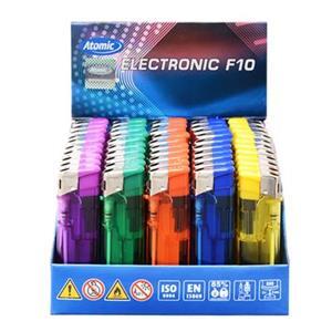 6439 - Accendini Atomic Elettronici Trasparente Pz.50