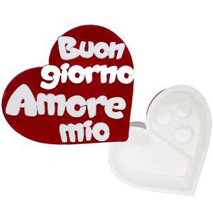 6176 - Confezione Cuore Polistirolo Buongiorno Amore Mio