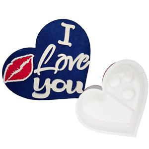 6083 - Confezione Cuore Polistirolo I Love You