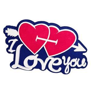 6100 - Confezione Cuore Polistirolo Love you Due Cuori
