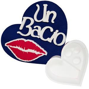 6084 - Confezione Cuore Polistirolo Un Bacio