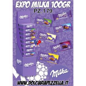 3166 - EXPO TAVOLETTE MILKA GR.100 PZ.179