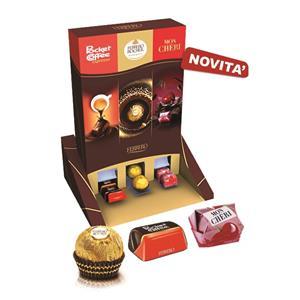 6509 - Ferrero Expo Praline Pz.154   5 Pocket Coffee Pz.18 2 Mon Cheri Pz.16 2 Rocher Pz.16