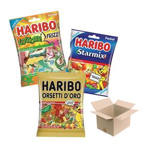 Haribo Gr.100 Buste Assortite Pz.15   5 Orsetti,5 Starmix E 5 Coccodri' Frizz