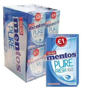 Mentos Gum Pure Fresh Mint Pz.20