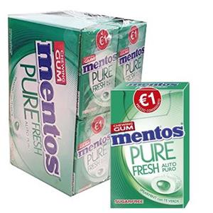 Mentos Gum Pure Fresh Spearmint Pz.20