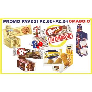 PROMO PAVESI :  RINGO CIOCC. PZ.24  BAIOCCHI PZ.42  PAVESINI PZ.20 RINGO VANIGLIA PZ.24 OMAGGIO
