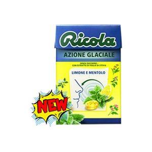 5910 - Ricola Azione Glaciale Limone E Mentolo Gr.50 Pz.20