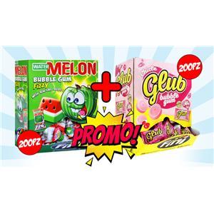 5701 -  PROMO CHICLE MELON GUM PZ.200 CON GLUB FRAGOLA PZ.200