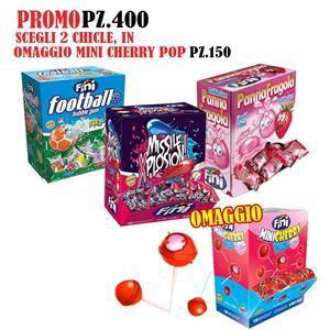 6017 -  PROMO CHICLE PZ.400 CON MINI CHERRY POP OMAGGIO PZ.150